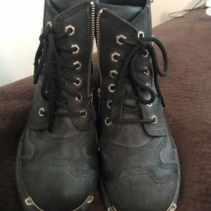 Authentic Harley Davidson motorcycle leather boots